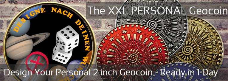 2 inch Personal Geocoin - Design your own with the onloine coin configurator