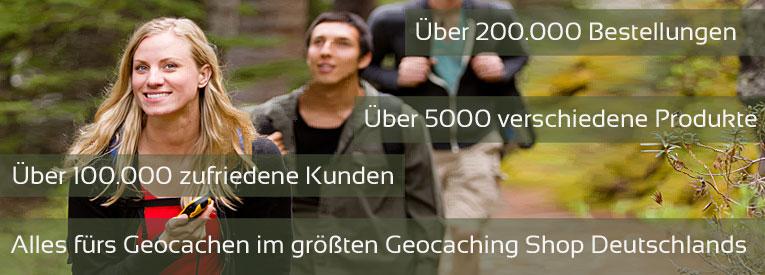 Alles rund ums Geocaching im gr��then Geocaching Shop Deutschlands