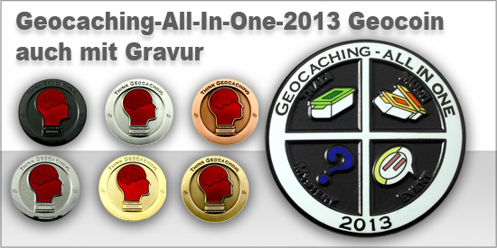 Geocaching - All In One Geocoin 2013