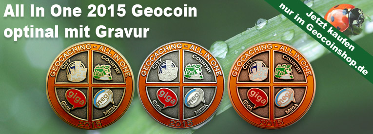 Geocaching - All In One Geocoin 2015
