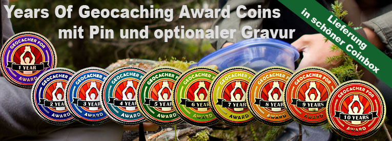 Award Years of Geocaching Geocoin