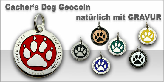 Cacher's Dog Geocoin