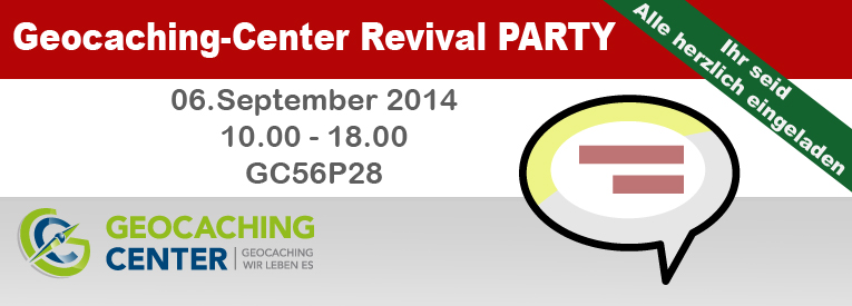Geocaching-Center Revival Party
