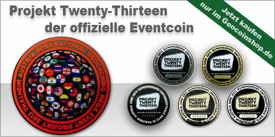 Projekt Twenty Thirteen Mega Event Geocoin