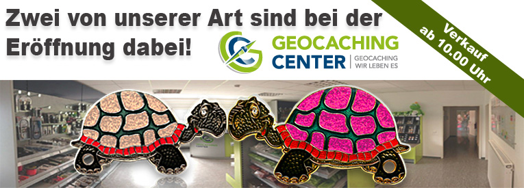 GeoTurtle bei der Ladener�ffnung Geocaching-Center