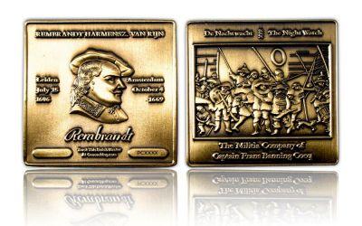 Rembrandt Geocoin Antik Gold