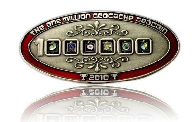1 Million Geocache Geocoin Antik Silber