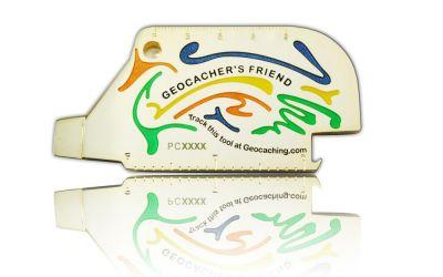 Geocacher's Friend Geocoin Poliertes Gold