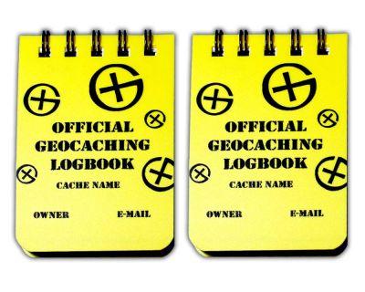 Kleines Spiral Geocaching Logbuch A8 (2er Pack)