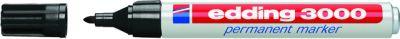 Permanent Marker Edding 3000 -schwarz- 1.5-3 mm