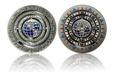 Geocaching - 10 Jahre Geocoin - Antik Silber