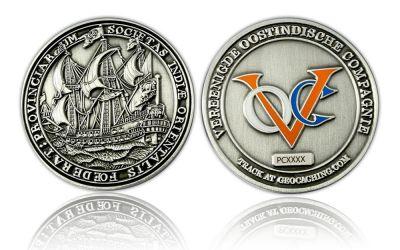 VOC Geocoin Antik Silber