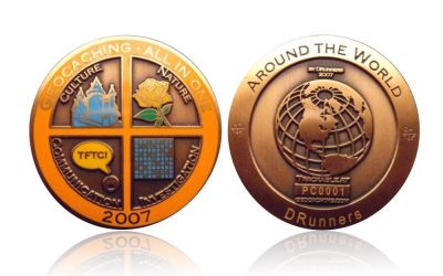Geocaching - All In One Geocoin 2007 Antik Gold