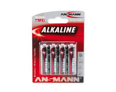 4 x Ansmann AA (Mignon) Alkaline Batterie