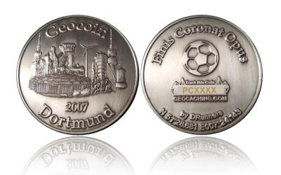 Dortmund Geocoin Antik Silber