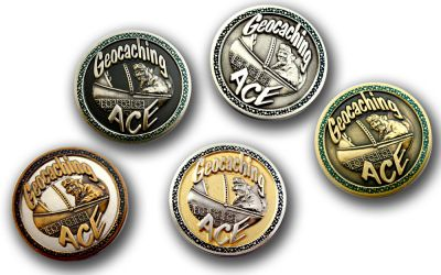Geocaching Ace Geocoin Sammler SET (5 COINS)