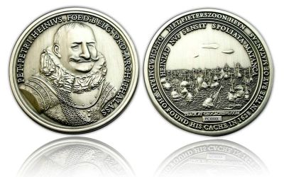 Piet Heyn Geocoin Antik Silber