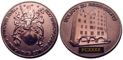 Mischika Creuse France Geocoin Black Nickel