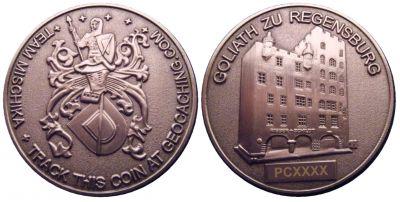 Mischika Creuse France Geocoin Antik Silber