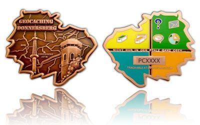 Donnersberg Geocoin Antik Kupfer