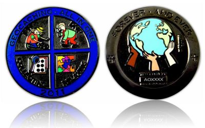Geocaching - All In One GC 2011 Black Nickel