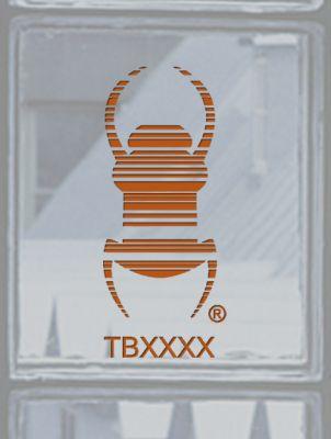 Groundspeak Travelbug® Aufkleber KUPFER, konturgeschnitten
