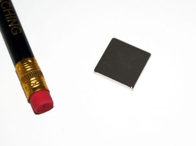 1 Stück 15 mm x 15 mm x 2 mm Neodym Magnet