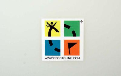 Original Geocaching.com 4-farb Aufkleber