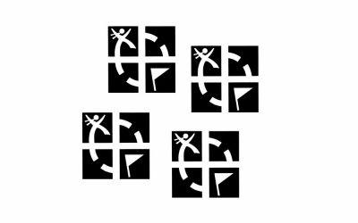 kleine Geocaching.com Logo Abziehsticker (4er)