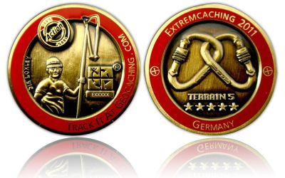 Extremcaching 2011 Geocoin Antik Gold