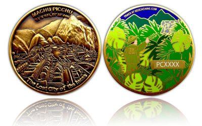 Machu Picchu Geocoin Antik Gold