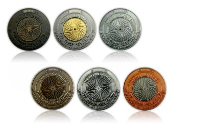 100 Years Jet Flying Geocoin Collector SET (6 COINS)