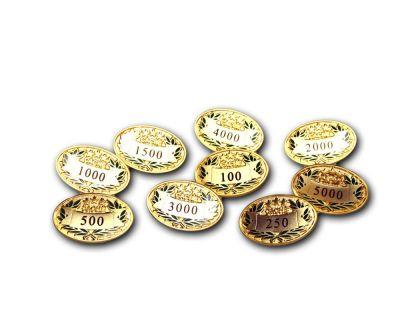 Award Pin in Satin Gold 100 - 5000