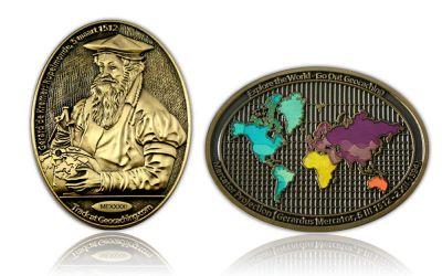 Mercator Geocoin Antik Gold