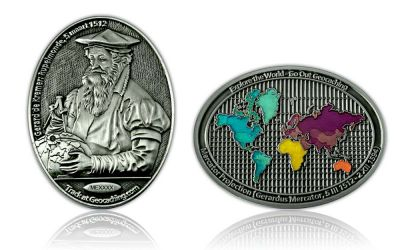 Mercator Geocoin Antik Silber