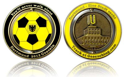 Dortmund 2012 Geocoin Antik Gold