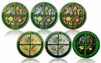Geocaching - All In One GC 2012 Sammler SET (6 COINS)