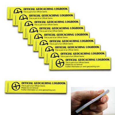 Geocaching PETling Logbuch gelb 200 (10 Stück)