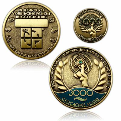 Geo Award Geocoin - 3000 Finds Set (inkl. Pin)