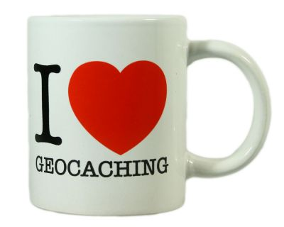 Tasse - I Love Geocaching Herz