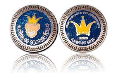 King of Geocaching GC Antik Silber (by Mambo)