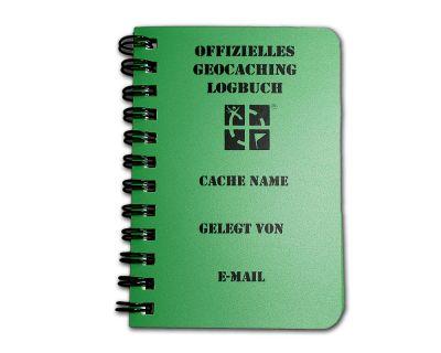 Spiral Geocaching.com Logbuch A7 grün - Deutsch