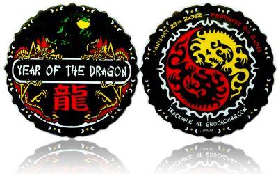 Year of the Dragon Geocoin Black Nickel