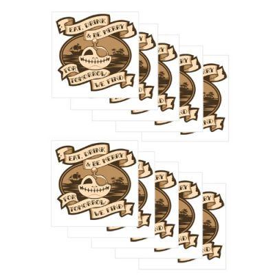 Groundspeak Signal Piraten Tattoos 10 St?ck