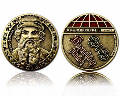 Mainz Geocoin Antik Gold
