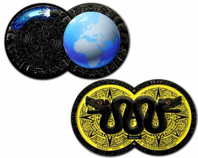 Weltuntergang Geocoin Black Nickel LE 100