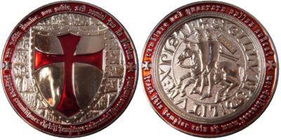 Templar Geocoin Nickel