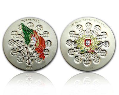 Portugal 2012 Geocoin Satin Silber XLE 75