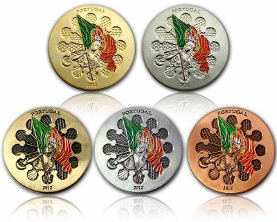Portugal 2012 Geocoin Sammler SET (5 COINS)