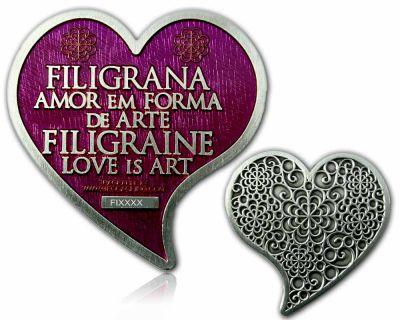 Filigrana Love Geocoin Antik Silber Amethyst